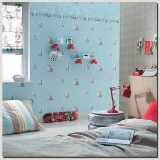 deco chambre bebe papier peint - visuel #3