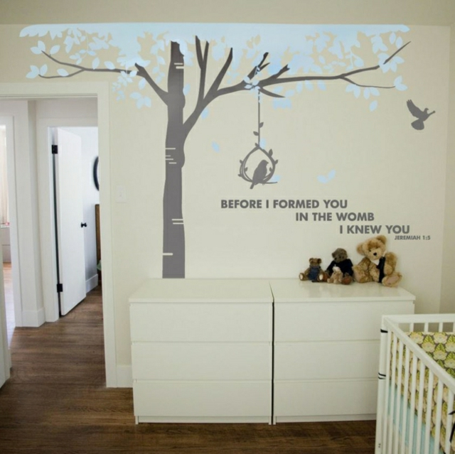 Deco chambre bebe stickers visuel 2 for Stickers phrase chambre bebe