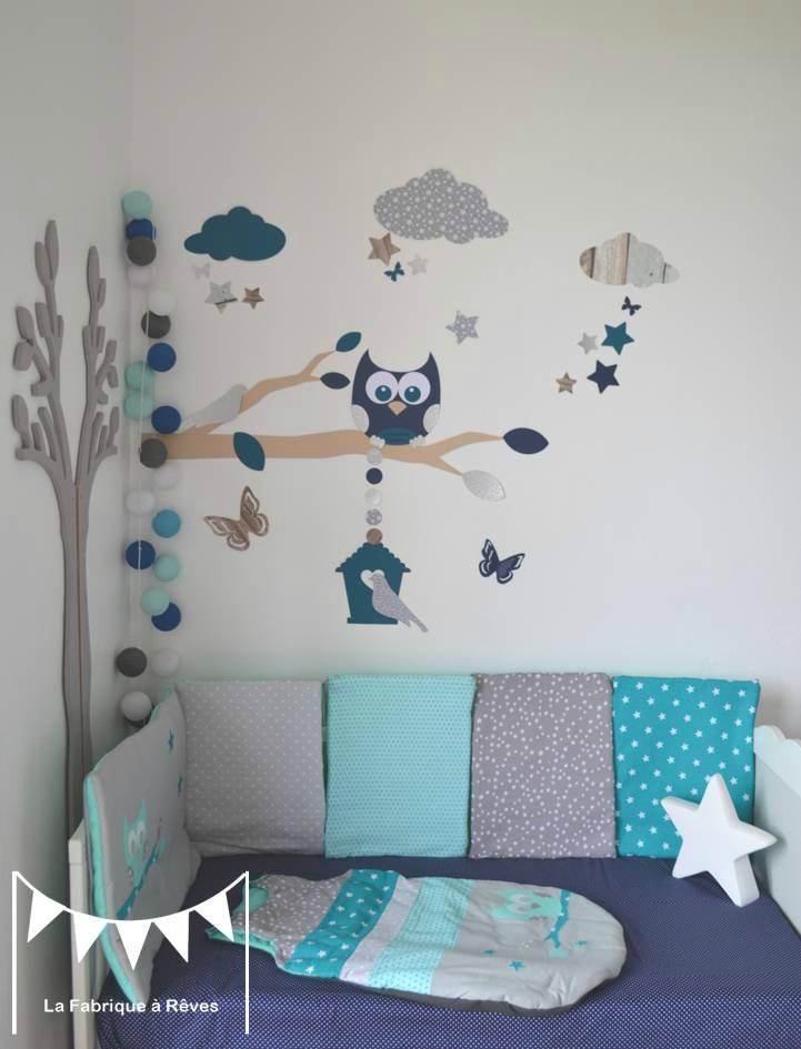 Deco chambre bebe stickers visuel 3 for Sticker mural chambre fille