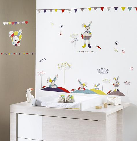 D coration chambre bebe stickers for Decoration murale bebe