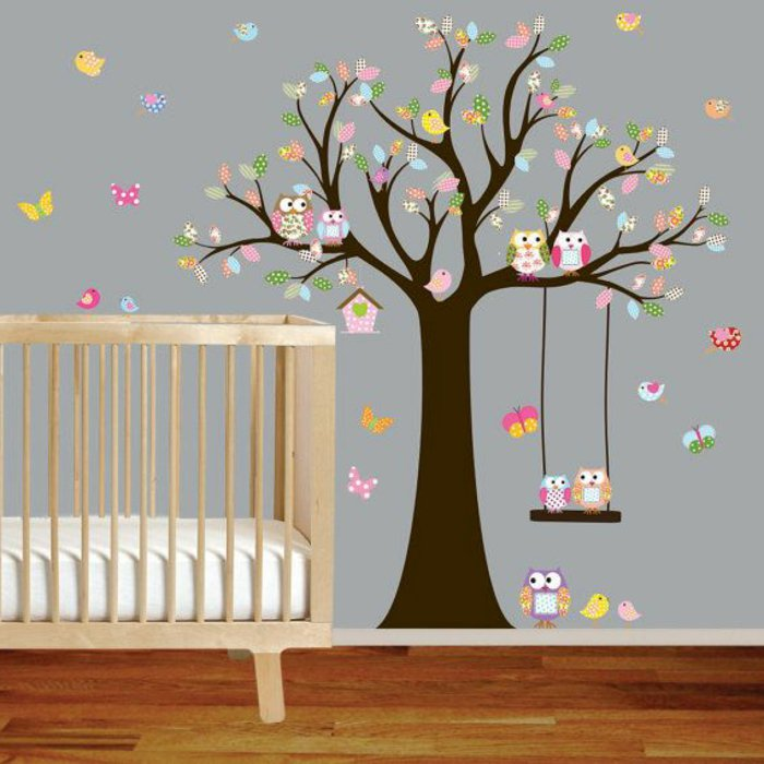 Deco chambre bebe stickers for Collant mural walmart