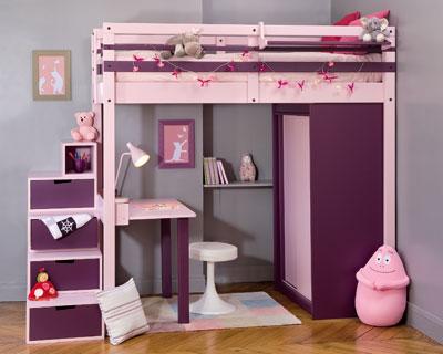 deco chambre fille mezzanine - visuel #2