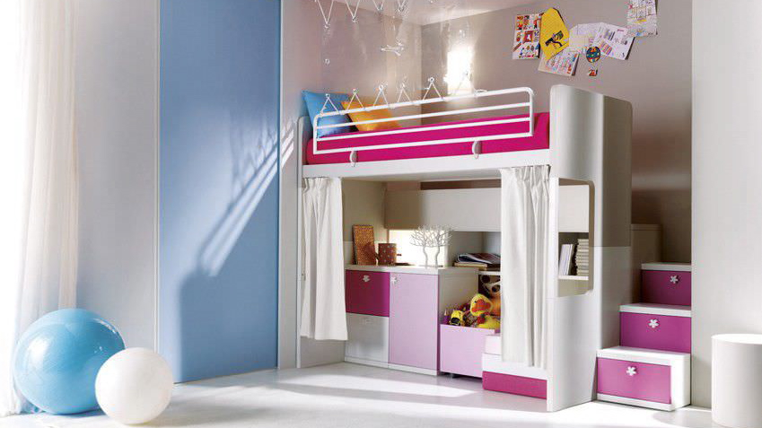 Idee mezzanine chambre fille for Decoration chambre fille adulte