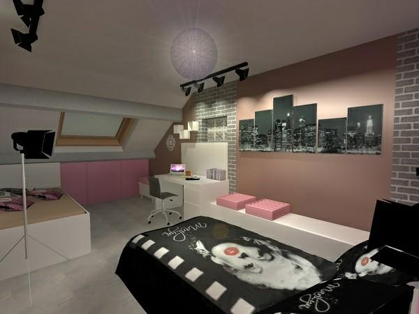 deco chambre fille style new york - visuel #9