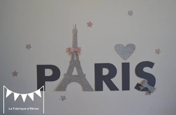 deco chambre fille theme paris - visuel #3