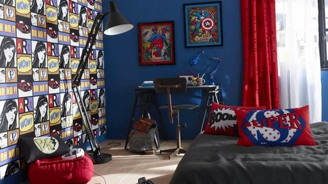 d co chambre marvel. Black Bedroom Furniture Sets. Home Design Ideas