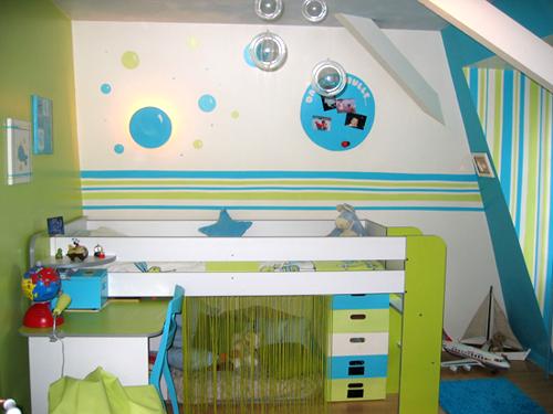 Deco chambre garcon peinture visuel 7 - Deco peinture chambre bebe garcon ...