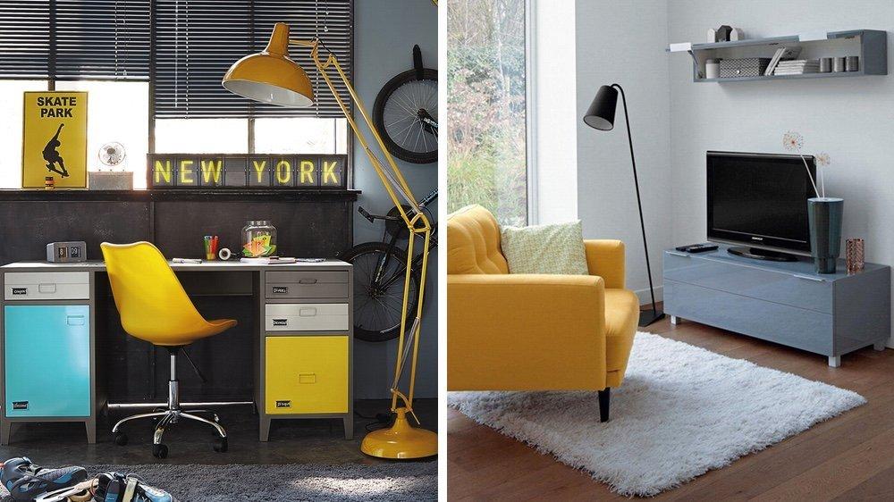 Deco bureau gris et jaune deco bureau gris et jaune bas meuble