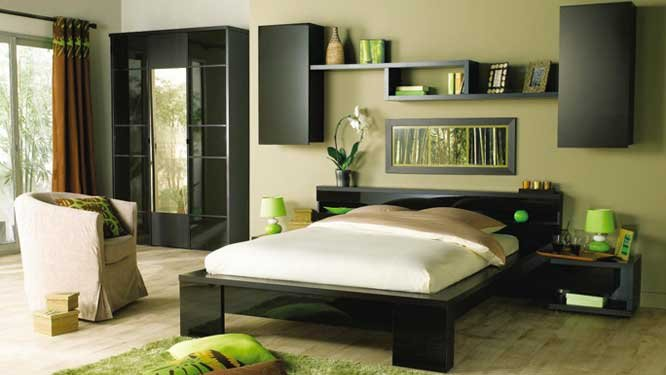 D co chambre parents zen for Grande chambre parentale