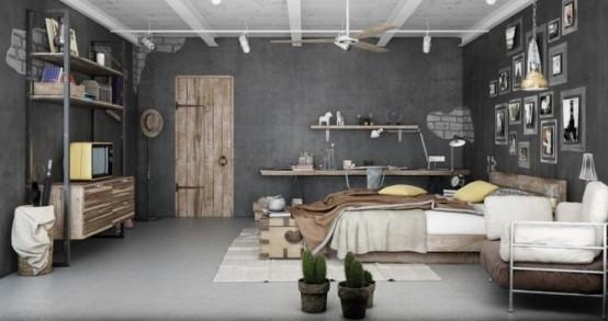 Emejing Chambre Ado Garcon Style Industriel Ideas