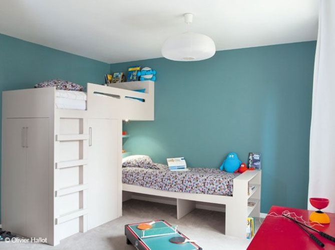 deco chambre vert et bleu - visuel #5