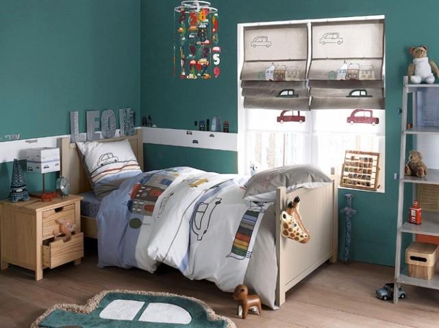 deco chambre vert et bleu - visuel #6