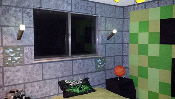 Deco de chambre minecraft for Minecraft kinderzimmer