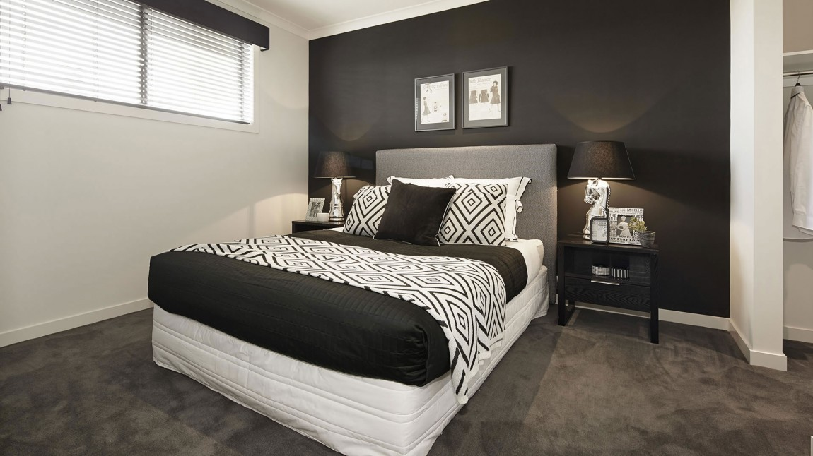 d coration chambre en noir et blanc. Black Bedroom Furniture Sets. Home Design Ideas