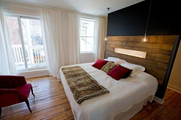 Ikea Chambre Idee : Decor chambre bois de grange