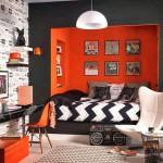 decoration chambre ado orange