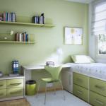 decoration chambre ado vert