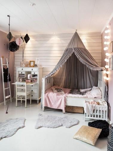 decoration chambre avec ciel de lit - visuel #5