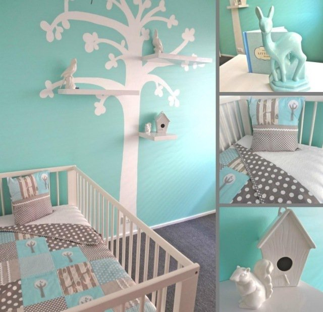 Decoration chambre bebe arbre for Decoration chambre bebe