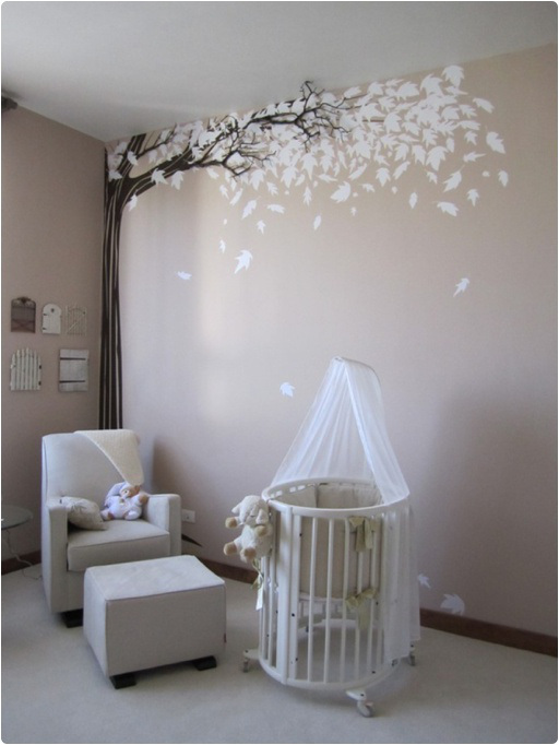 Decoration chambre bebe arbre visuel 5 for Decoration chambre bebe