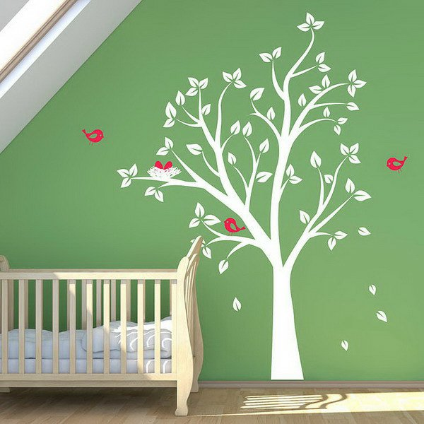 Decoration chambre bebe arbre for Arbre decoration