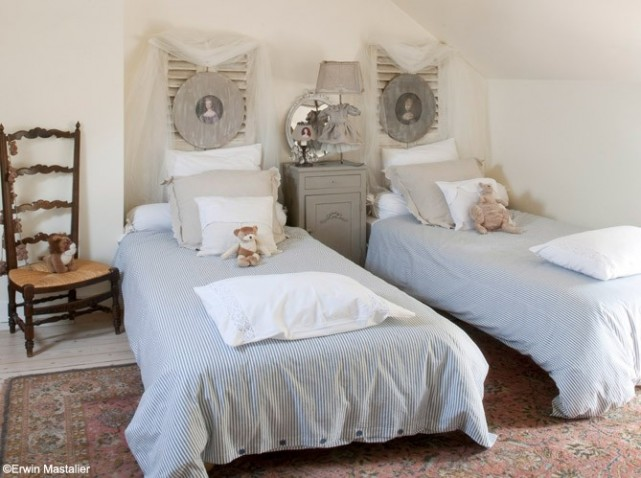 Decoration chambre campagne chic visuel 7 for Decoration campagne chic