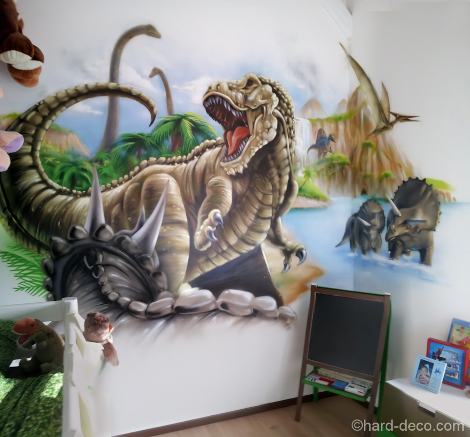 d co chambre dinosaure. Black Bedroom Furniture Sets. Home Design Ideas