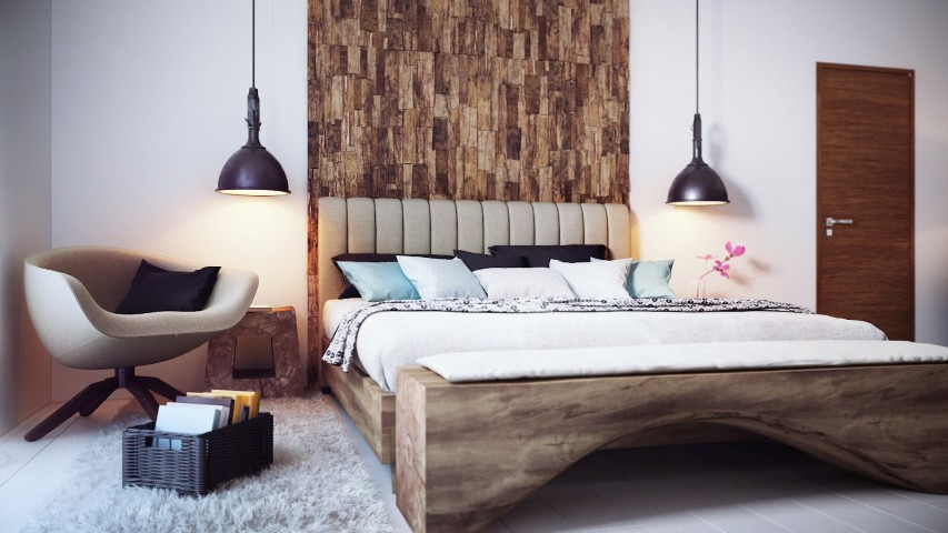 d coration chambre en bois. Black Bedroom Furniture Sets. Home Design Ideas