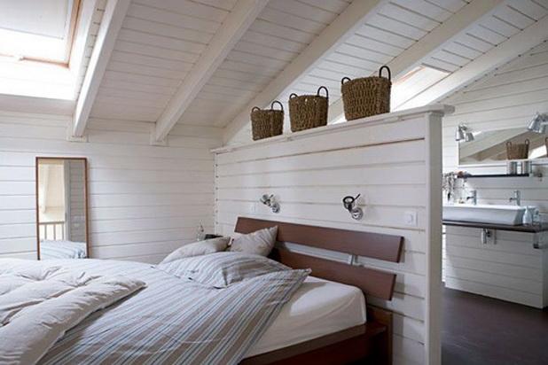 Chambre en bois blanc ~ Solutions pour la décoration intérieure de ...