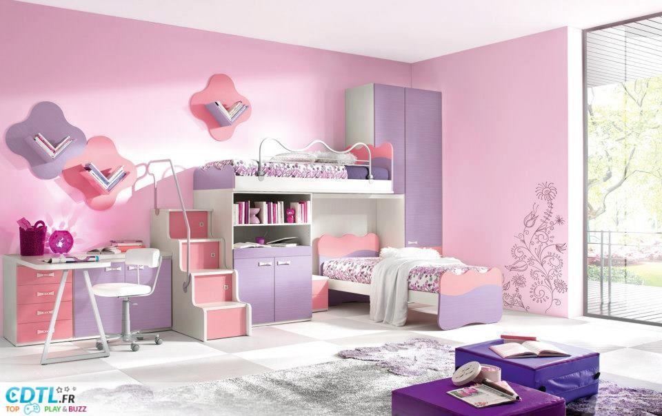 D co chambre de fille 5 ans - Deco chambre fille 3 ans ...