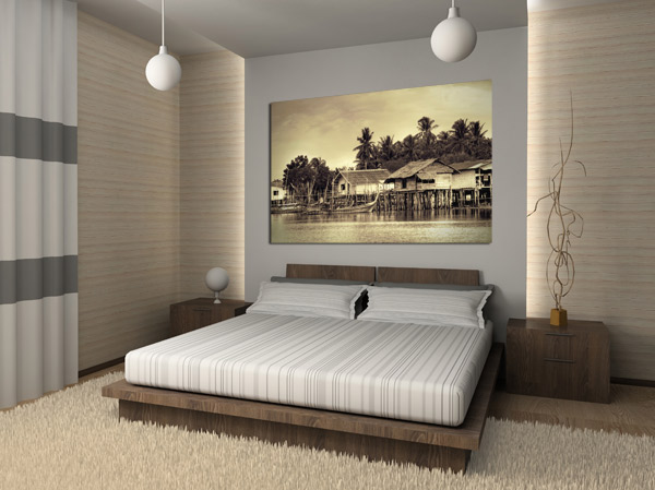 Decoration chambre idee visuel 3 for Decoration mur de chambre adulte