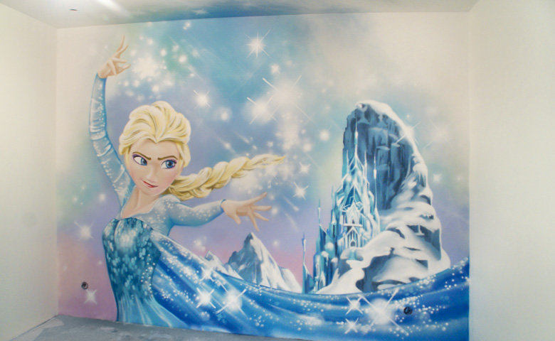 Decoration chambre la reine des neiges visuel 5 for Glace murale decorative