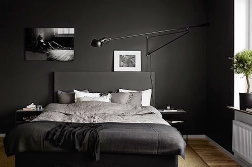 Decoration Simple Chambre Fille :  Comment utiliser le noir dans la chambre ?  Diaporama Photo  DECOfr