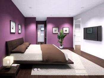 decoration chambre prune - visuel #8