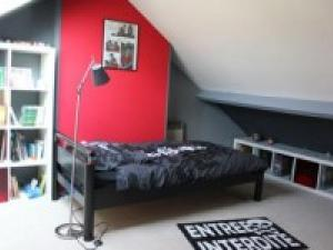 d co chambre rouge et gris. Black Bedroom Furniture Sets. Home Design Ideas