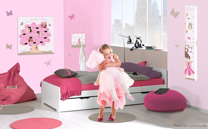 decoration princesse pour chambre fille. Black Bedroom Furniture Sets. Home Design Ideas