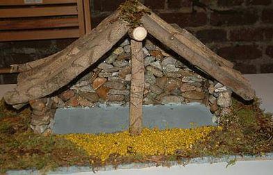 fabriquer un decor de creche de noel