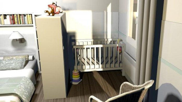 faire une chambre de bebe dans un petit espace visuel 1. Black Bedroom Furniture Sets. Home Design Ideas