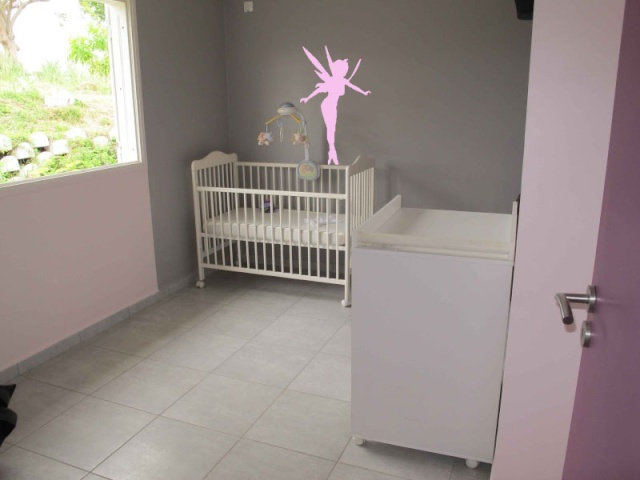 Chambre fille deco fee for Deco chambre bebe fille gris rose