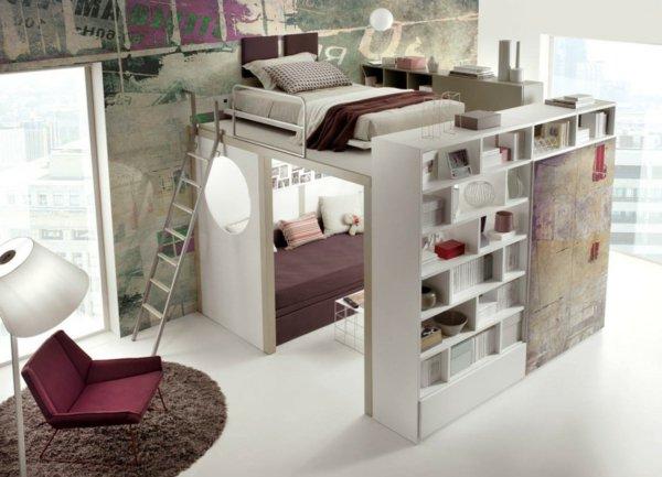 Idees rangement pour petite chambre visuel 9 - Rangement astucieux chambre ...