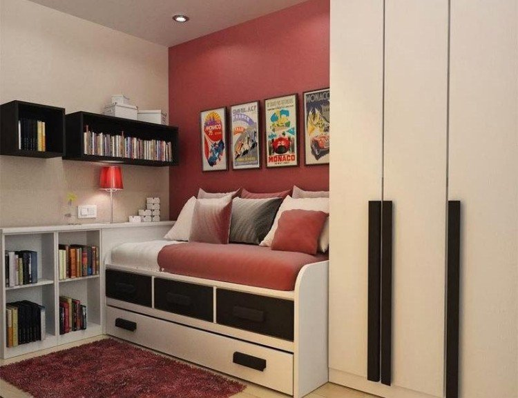 Idees rangement pour petite chambre visuel 1 for Rangement petite chambre