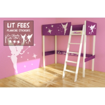 lit mezzanine junior fille visuel 5. Black Bedroom Furniture Sets. Home Design Ideas