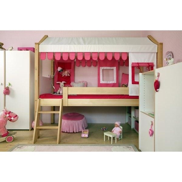 lit mezzanine junior fille. Black Bedroom Furniture Sets. Home Design Ideas