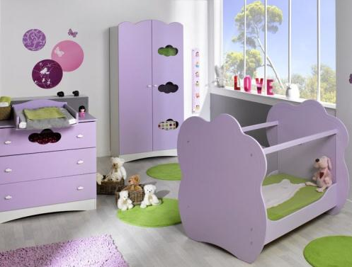 photo chambre bebe fille parme visuel 6. Black Bedroom Furniture Sets. Home Design Ideas