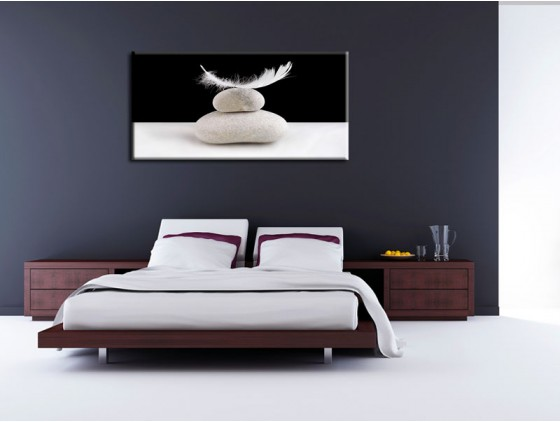 tableau zen pour chambre a coucher visuel 3. Black Bedroom Furniture Sets. Home Design Ideas