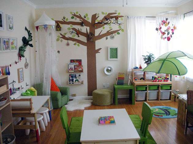 amenagement chambre bebe montessori