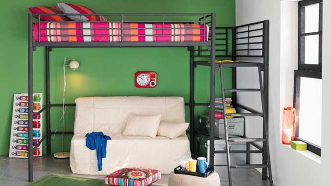 d co chambre ado vert. Black Bedroom Furniture Sets. Home Design Ideas