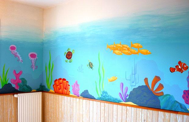 Deco chambre bebe nemo visuel 8 - Idee dessin peinture murale ...