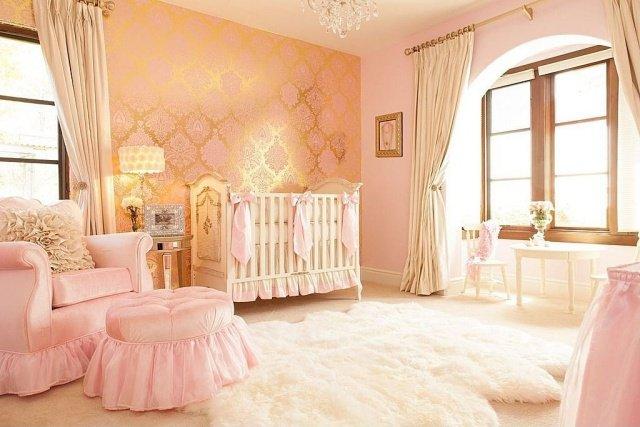 chambre bebe rose et marron