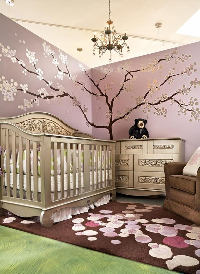 Deco chambre bebe rose et marron visuel 6 for Salon rose et marron